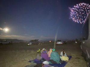 July 4th fireworks, Buena Vista, CO